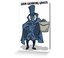 Grim Grinning Ghosts Greeting Card