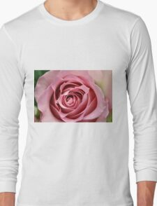 Baby Pink Rose Long Sleeve T-Shirt