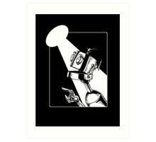 Robot in the Spotlight Art Print