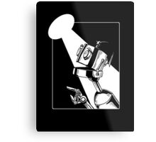 Robot in the Spotlight Metal Print