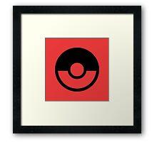 Pokémon Symbol - Super Smash Bros. (black) Framed Print