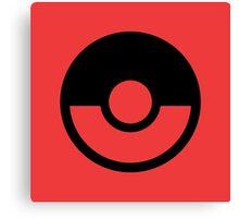 Pokémon Symbol - Super Smash Bros. (black) Canvas Print