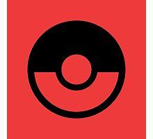 Pokémon Symbol - Super Smash Bros. (black) Photographic Print