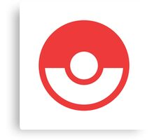 Pokémon Symbol - Super Smash Bros. (color) Canvas Print