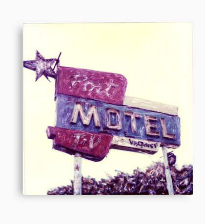 Port Motel Canvas Print