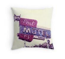 Port Motel Throw Pillow