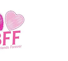 BEST FRIENDS FOREVER BFF cute hearts by jazzydevil