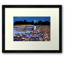 Moonrise over Yarramundi Australia Framed Print