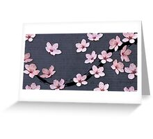 Triangulated Cherry Blossoms Greeting Card