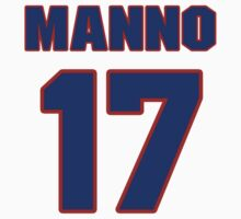 National baseball player Don Manno jersey 17 by imsport