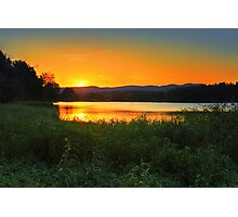Sunset behind Blue Mountains Australia Photographic Print