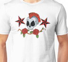 Oldschool Tattoo Skull and Roses Unisex T-Shirt