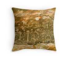 """Pictograph Point"" Throw Pillow"