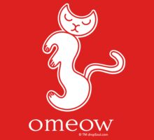 Om Cat Omeow Yoga T-shirt Kids Clothes