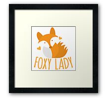Foxy lady super cute kawaii foxy Framed Print