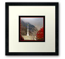 Provo LDS Temple - Autumn Framed Print