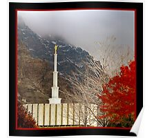 Provo LDS Temple - Autumn Poster