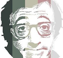 Woody Allen in stripes by burrotees