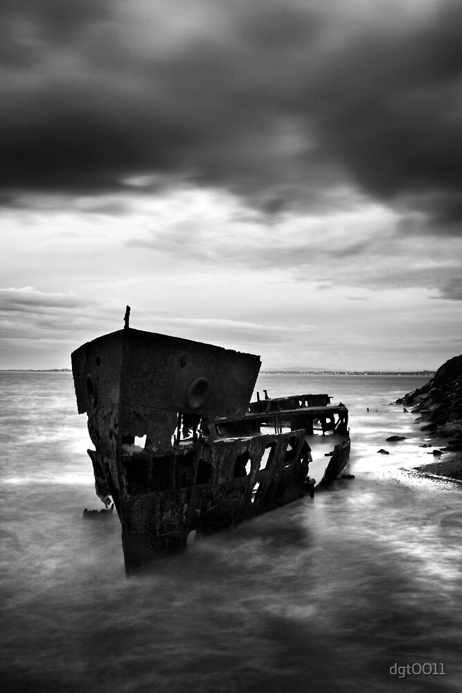 Old lady of the sea - black and white by dgt0011
