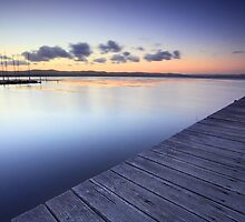 Long Jetty Australia at Dusk seascape landscape by Leah-Anne Thompson