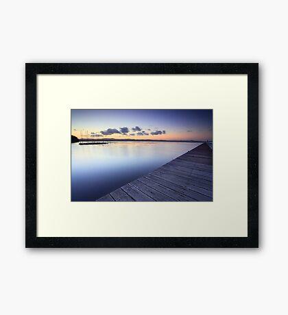 Long Jetty Australia at Dusk seascape landscape Framed Print