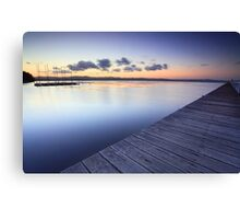 Long Jetty Australia at Dusk seascape landscape Canvas Print