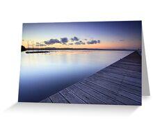 Long Jetty Australia at Dusk seascape landscape Greeting Card