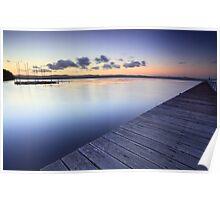 Long Jetty Australia at Dusk seascape landscape Poster