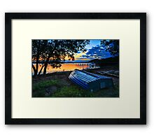 Beautiful Sunset Kincumber Australia seascape landscape Framed Print
