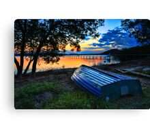 Beautiful Sunset Kincumber Australia seascape landscape Canvas Print