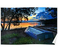 Beautiful Sunset Kincumber Australia seascape landscape Poster