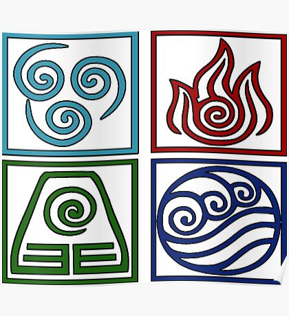 The Four Elements -Avatar Poster