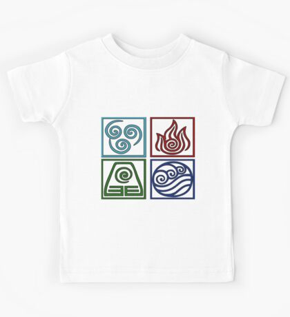 The Four Elements -Avatar Kids Tee