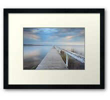 Long Jetty serenity - Australia seascape landscape Framed Print