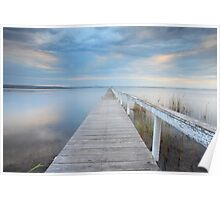 Long Jetty serenity - Australia seascape landscape Poster