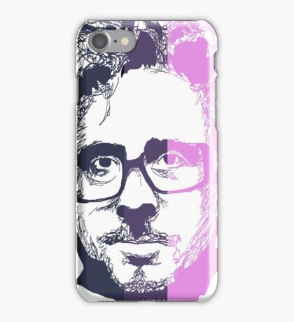 Tim Burton in stripes! iPhone Case/Skin