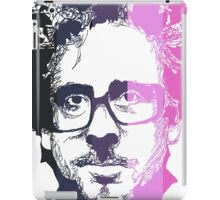 Tim Burton in stripes! iPad Case/Skin