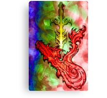 Magical Serpent Sword Canvas Print
