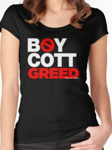 BOYCOTT GREED Women's Fitted Scoop T-Shirt