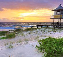 Beautiful sunrise at The Entrance, Central Coast, Australia seascape landscape by Leah-Anne Thompson