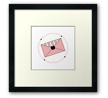 Pretty Stationary Though Framed Print