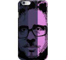 Tim Burton in stripy background! iPhone Case/Skin