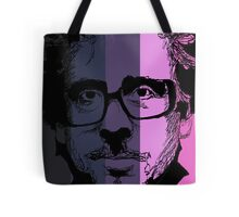 Tim Burton in stripy background! Tote Bag
