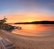 Sunrise Balmoral Beach Panorama  Australia seascape landscape by Leah-Anne Thompson