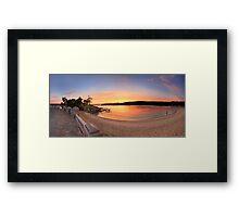 Sunrise Balmoral Beach Panorama  Australia seascape landscape Framed Print