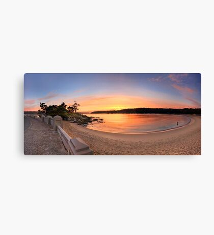 Sunrise Balmoral Beach Panorama  Australia seascape landscape Canvas Print