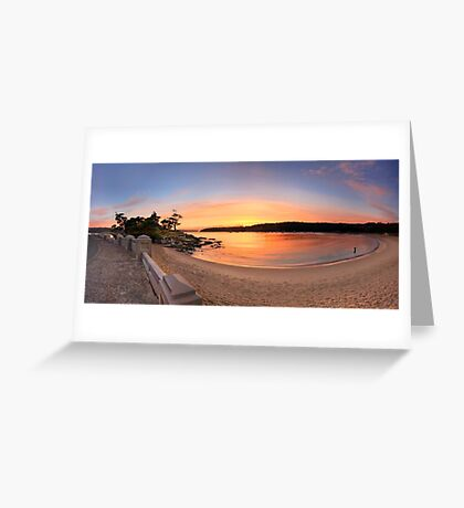 Sunrise Balmoral Beach Panorama  Australia seascape landscape Greeting Card