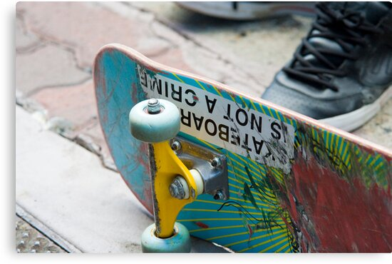 Skateboarding is not a Crime by Paul Mears