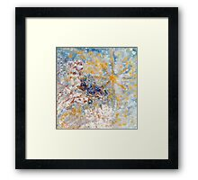 Bluebirds in the Snow Designer Art by Marie-Jose Pappas Framed Print