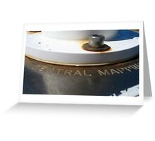 Geodetic Station Central Mapping Authority Greeting Card